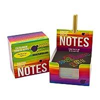 スクラッチ式メモ用紙レインボー色:表面黒色・削ると虹色、正方形厚紙150枚入、クラフト・景品・ オフィスの飾りにも (Purple Ladybug Novelty)