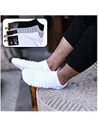 MRSSY メンズ 靴下 おしゃれ ブラック ショートフットカバー くるぶし男性靴下消臭防臭 抗菌吸汗通気 キャタピラの形 かわいい 3足セット