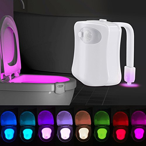 【3DIY】 トイレ 人感 センサー ライト 便座 LEDセンサーライト 照明 LED ランプ 8色変換 節電 便器 玄関 お手洗い 照明用 常夜灯