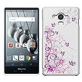 「Breeze-正規品」iPhone ・ スマホケース ポリカーボネイト [透明-Purple] アクオスフォン カバー AQUOS EVER[SH-04G]