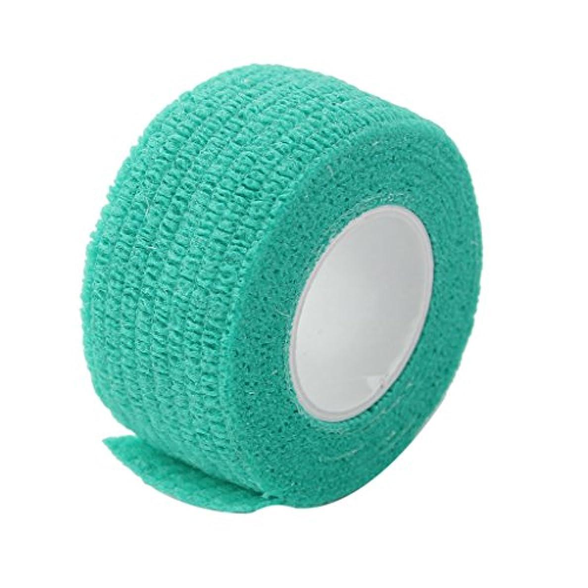 分泌するに応じて骨髄ノーブランド品 不織布 粘着 柔軟 弾性 テープ 包帯 ラップ 8種類選べる - 緑2.5cm