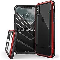 X-Doria iPhone XS/X (2018 & 2017) ケース DEFENSE SHIELD シリーズ 米軍MIL規格取得 MIL-STD-810G 衝撃吸収 スリム ハイブリッド アルミニウム × TPU × ポリカーボネイト ケース 【 レッド 】