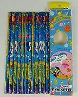 12鉛筆2B(1箱)のパーティーバッグパック-海洋デザイン