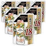 レノア ハピネス 香り付け専用ビーズ アロマジュエル アプリコット&ホワイトフローラルブーケの香り 詰め替え 約1.8倍(805mL)x6袋