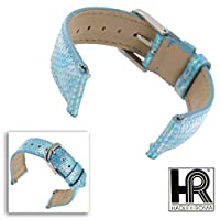 Hadley Roma lsil10112mmブルーGenuine Java Lizard Watchバンド女性用