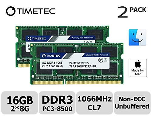 Timetec Hynix IC 16GB Kit (2x8GB) Mac用 DDR3 PC3-8500 1066 MHz Apple 専用増設メモリ 永...