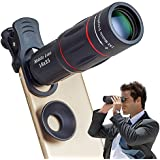 Apexel Phone Camera Lens,18X Optical Camera Mobile Zoom Lens Manual Telescope Lens with Clamp for iPhone X/8 7/6S/6 Plus/5/4 Samsung and Most Android Smartphones