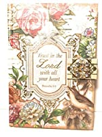 Punch Studio Jeweled Brooch Hard Covered Note Book - Trust in the Lord with all your heart Proverbs 3:5 [並行輸入品]
