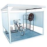 ダイマツ 多目的万能物置 サイクルハウス 物置 自転車 バイク 収納 屋外 シルバー DM-16