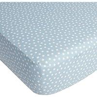 CoCaLo Mix & Match Dottie Fitted Sheet, Aqua by Cocalo [並行輸入品]