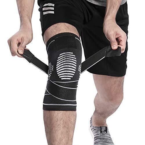 BERTER 膝サポーター スポーツ 両ヒザ用 保温 左右兼用 通気性 伸縮性 4サイズ 男女 左右兼用 ランニング バスケ サッカー 登山 アウトドア運動に適用 S/M/L/XL コード