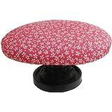 きれいに座れる正座用座椅子 (ねじ式無段階高さ調節機能付き) ピンク小桜(限定生産カラー)