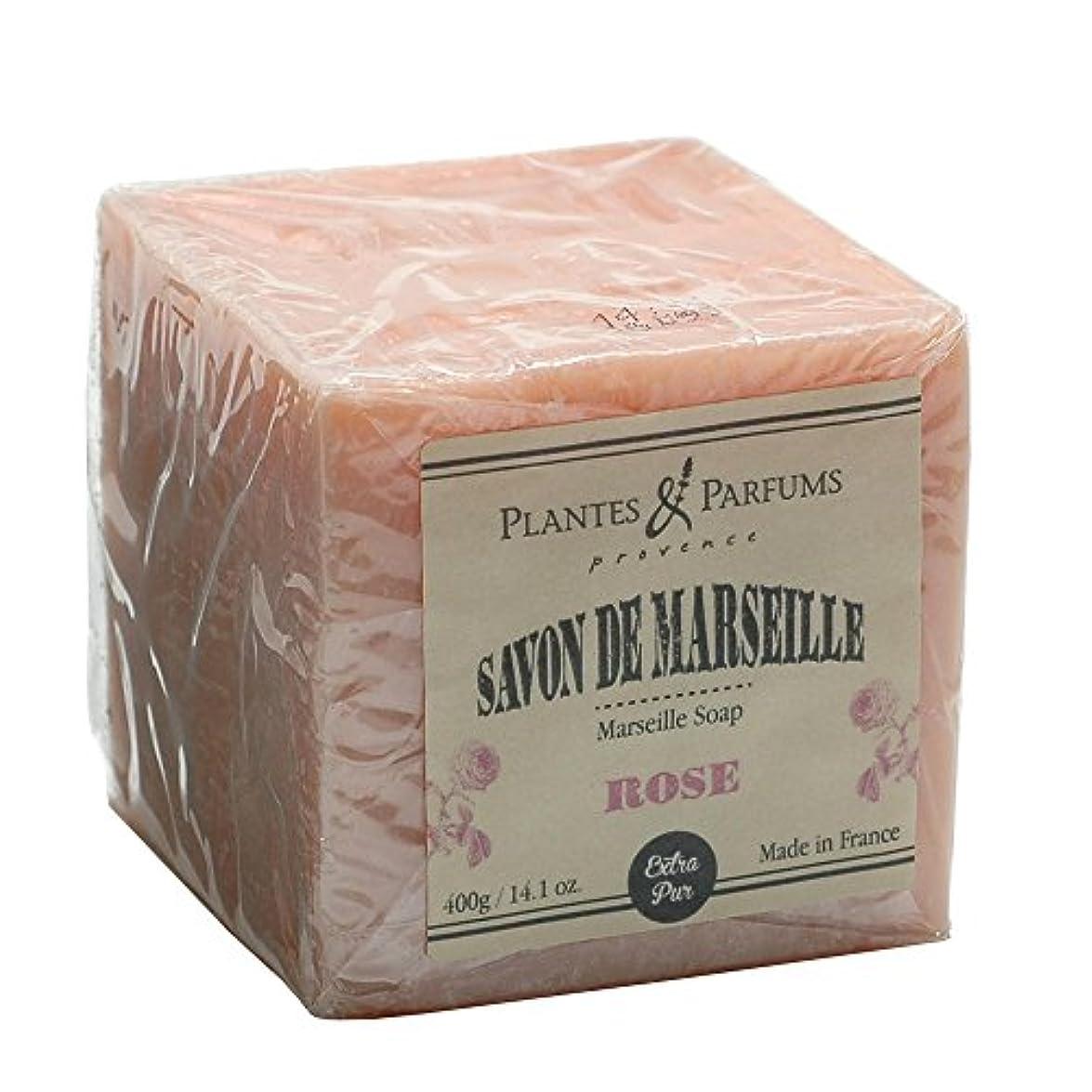 艶年次無条件Plantes&Parfums [プランツ&パルファム] マルセイユソープ400g ローズ