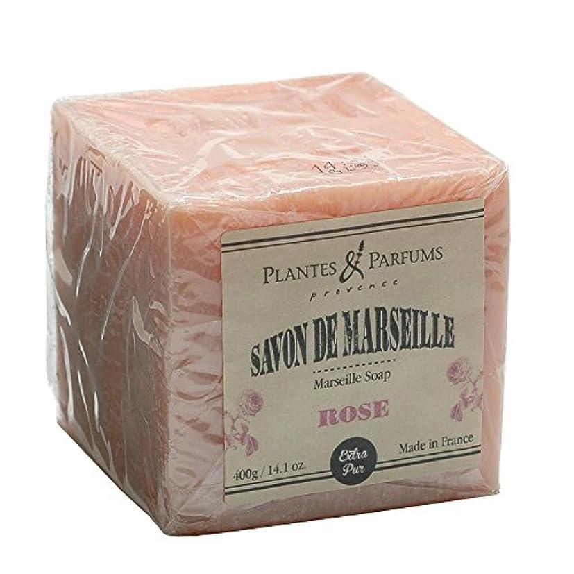限り毎週胃Plantes&Parfums [プランツ&パルファム] マルセイユソープ400g ローズ