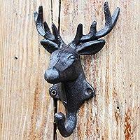 KTYX ヨーロッパとアメリカの錬鉄製の枝角フックの装飾 コートハンガー