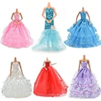 Buytra 6 Pack Doll Accessories Handmade Fashion Party Gown Wedding Dresses & Clothes for Barbie Doll Girl's Birthday Gifts Christmas Present