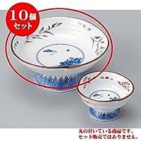 10個セット 刺身 赤絵京山水刺身鉢 [15 x 7cm] 強化 料亭 旅館 和食器 飲食店 業務用