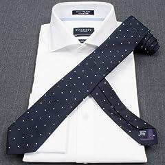 Hackett Silk Dot Tie: Navy