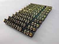 Tick Nick プライスキューブ プライスブロック プライスタグ 黒本体 白 金 文字 10セット (Mサイズ 金文字)