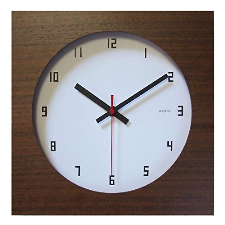 フォーカス?スリー 置き時計 ブラウン 横25×縦25×奥行4cm