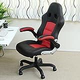 パソコンチェア オフィスチェア デスクチェア レーシング バケットシートデザイン ハイバック GT-R 椅子 イス クッション 脚 いす 肘掛 キャスター おすすめ おしゃれ 疲れにくい 北欧 レッド BT002RE/BK