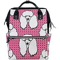 ママバッグ マザーズバッグ リュックサック ハンドバッグ 旅行用 ポメラニアンドッグ 可愛い犬柄 ファション