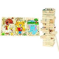 無限大の遊び方 ジェンガ 木製パズル ドミノ ゲーム兼用 立体パズル 積み木 バランスゲーム Bajoy 大人も子供も楽しめる 54ピース