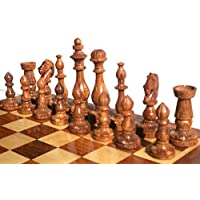 Wooden Chess Set FlowerBase Design 32 chess Pieces King 3.90