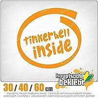 Tinkerbell inside - 3つのサイズで利用できます 15色 - ネオン+クロム! ステッカービニールオートバイ