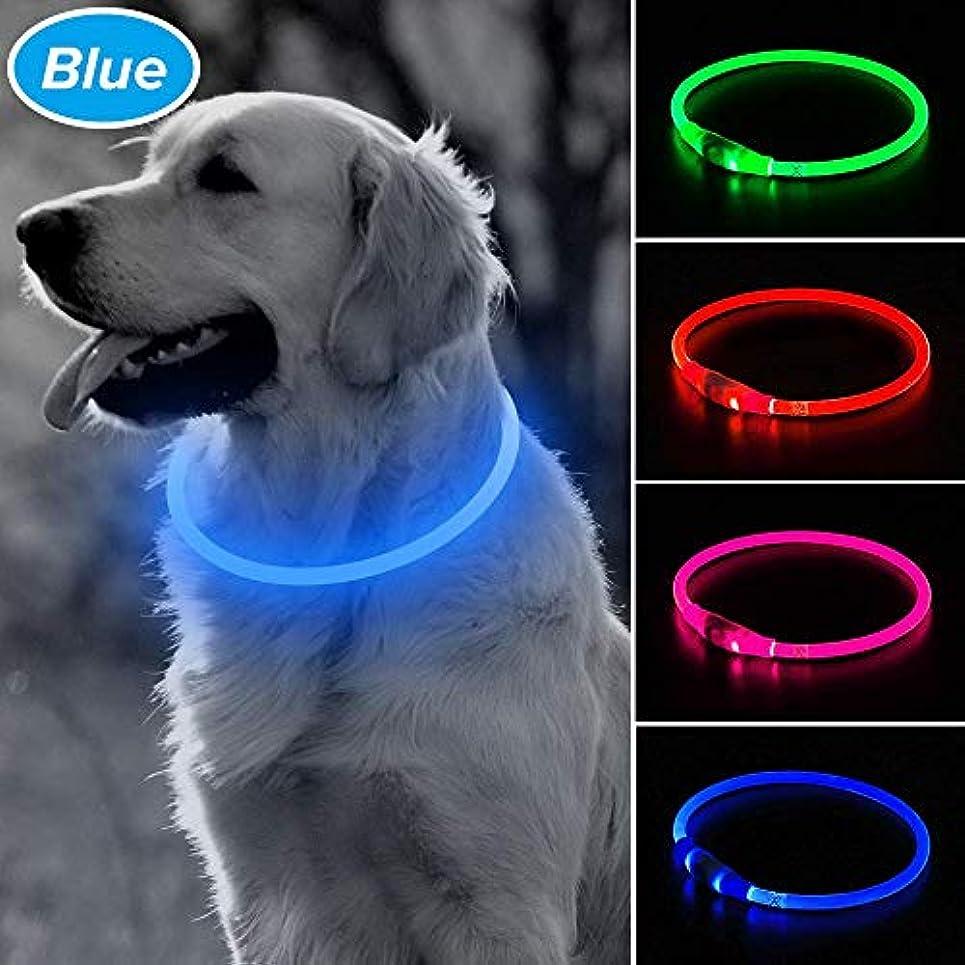 協力的興奮する乱気流LED光る首輪,交換可能なバッテリーで駆動 [500m先から目視可能] ペット 夜間 安全性 [3種類のライトモードを搭載] 防水 スモール ミディアム ラージ [複数色ご用意]