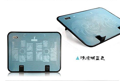 Mumiji ノートパソコン 冷却台 冷却ファン搭載 ノートPC用クーラー USB接続 強力な冷却効果 10-14インチ型まで対応(ブルー)