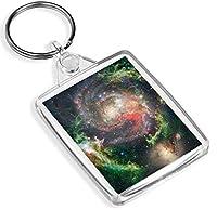先ビニールキーリング明るい渦巻銀河キーリング星雲スペーススター楽しいキーリングギフト#12340