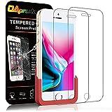 【ガイド枠付き】【2枚セット】OAproda iPhone SE/5/5s ガラスフィルム アイフォンse フィルム 液晶強化保護フィルムカバー 【60日品質保証/日本製素材旭硝子製/3D Touch対応/硬度 9H/高透過率/貼り簡単/0.2mm薄さ】