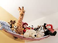 Large Pink Toy Hammock for Stuffed Animals and Toys (Installation Hardware Included) by L'il Acorn