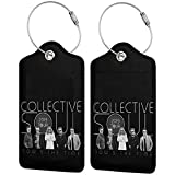 Colle-ctive-Soul Printed?Leather Luggage Tag & Bag Tag With Privacy Cover Of Specifications