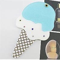 HuaQingPiJu-JP ミニアイスクリーム漫画パターン小さなガラスミラーサークル工芸装飾化粧品アクセサリー