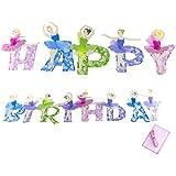 BESTOYARD 誕生日パーティー バレエ 女の子 ペーパーフラッグ バナー パーティー装飾 子供用 (ハッピーバースデー)