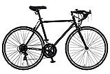 ANIMATO(アニマート) ロードバイク DEUCE(デュース) 700C マットブラック シマノ14段変速 A-14