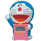 SEIKO CLOCK (セイコークロック) 目覚まし時計 ドラえもん キャラクター型 おしゃべりアラーム デジタル 温度表示 JF374A