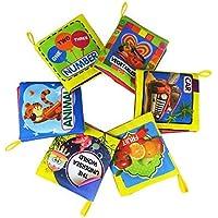 タンゴ赤ちゃんの最初非毒性柔らかい布帳set- Crinkle、カラフルな – (摩擦with a rustlingサウンド) – Pack of 8 for Toddlers