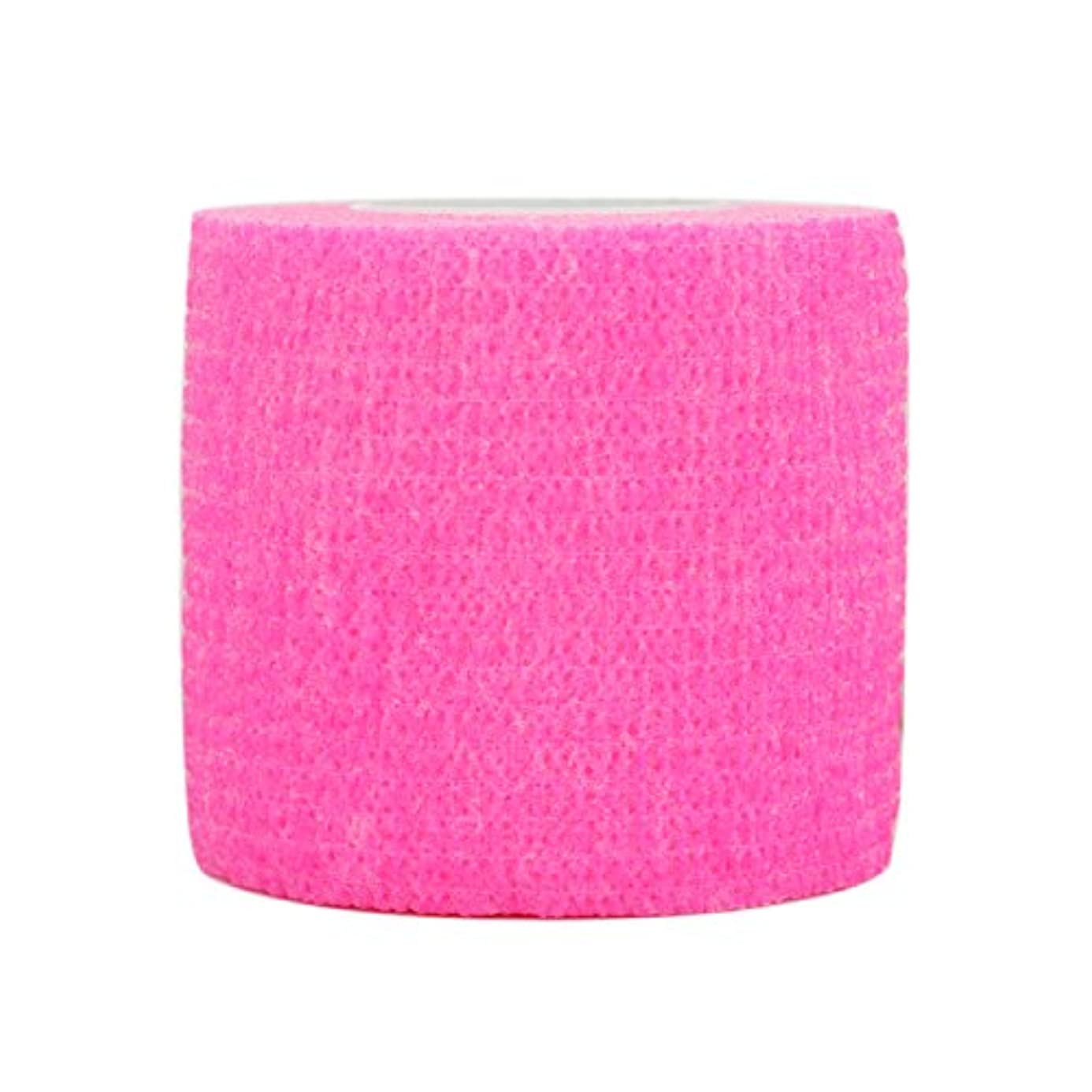 サーフィン間接的モノグラフComomed 3 ロール自己粘着包帯肌色 5cm x 4.5 m 弾性包帯、不織布、スポーツテープ、獣医包装、包帯包帯、敏感肌に適しています。(ピンク 3巻)