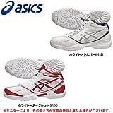 ASICS(アシックス) ゲルバースト RS TBF697 メンズ バスケットボール シューズ (ホワイト×Dレッド(0124), 28.0cm)