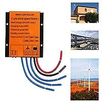 風力タービン発電機充電コントローラオートMPPT防水LED過電圧保護スピード,24v,800W