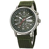 [LAD WEATHER]ソーラー電波時計 メンズ腕時計 100m防水 ウォッチ lad017