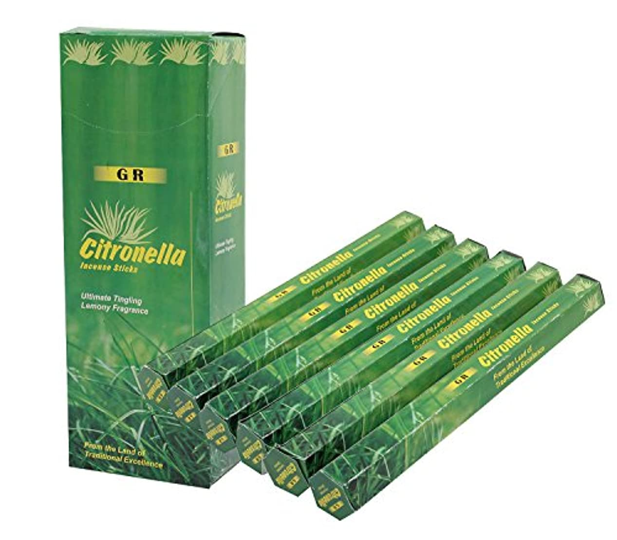 取り替えるクラッチ政策DharmaObjectsシトロネラ香6ボックス120 Incense Sticks