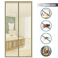 ホーム 磁気スクリーン ドア,メッシュ カーテン 簡単インストール ヘビーデューティ 維持 蚊の飛ぶうち 防蚊ネット 最ものドアのサイズに適合-E 100x240cm(39x94inch)