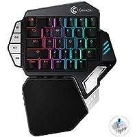 GameSir Z1左手用 ゲーミングキーパッド メカニカル青軸 RGB マクロ可能 Win7/8/10/MAC対応