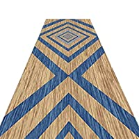 ZEMIN 廊下敷きカーペッ キッチン エントランス エリアラグ 洗える 滑り止め マット 幾何学的デザイン、 複数のサイズ (Color : A, Size : 1.2x3m)