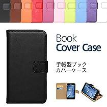 """【ケートラ】手帳型ブックカバーケース """"Book Cover Case"""" 手帳型ケース カバー 手帳型 (ZenFone Max ZC550KL, ブラック)"""