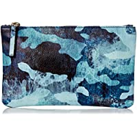 DAY FIVE STUDIOS Women's CAMO POUCH, Blue, One Size